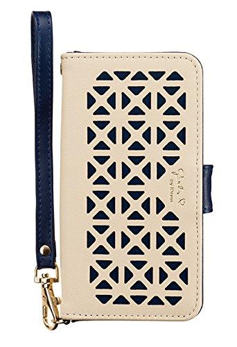 サンクレスト Girlsi iPhone8/7/6s/6 4.7インチ対応 手帳型 ダイアリーカバー パンチング アイボリー×ネイビー i7S-GI01