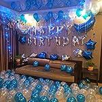 誕生日 飾り付け バルーン HAPPY BIRTHDAY ハッピーバースデー 風船3色150個 特大 月 スター 豪華セット空気いれ 両面テープ付き アルミ バルーン by Kungfu Mall
