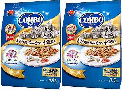 コンボ コンボ キャット まぐろ味・カニカマ・小魚添え 700g×2袋