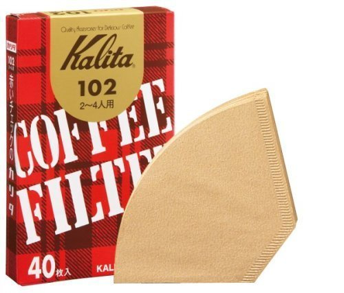 1 X Brown entered 40 pieces of Kalita coffee filter 102 filter paper (Japan Import) by Kalita [並行輸入品]