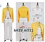 Freddie Mercury フレディ・マーキュリー風 後期 黄色 コスプレ衣装 全セット 仮装 ステージ 舞台服 ハロウィン クリスマス