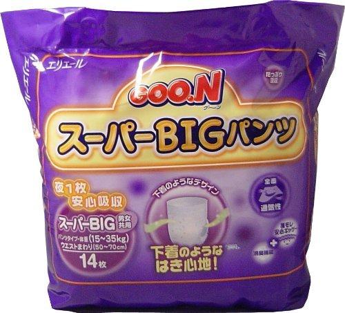 グーン スーパーBIGパンツ 14枚入 ×5個セット