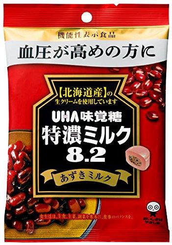 UHA 味覚糖 機能性表示食品 特濃ミルク8.2 あずきミルク 93g