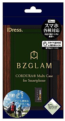 サンクレスト BZGLAM 多機種対応 手帳型 マルチカバー Mサイズ CORDURA FABRIC カーキ SMC-BZ09
