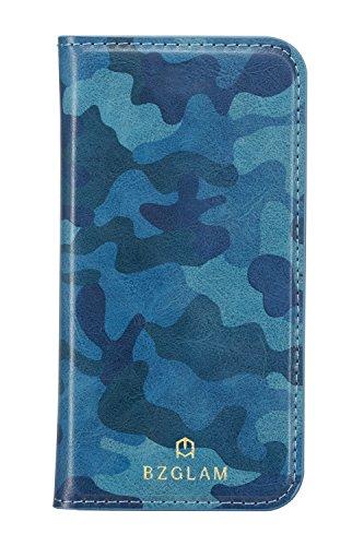 サンクレスト BZGLAM iphone8/7/6s/6 4.7インチ 対応 カモフラージュダイアリーカバー 手帳型ケース ブルー iP7-BZ02
