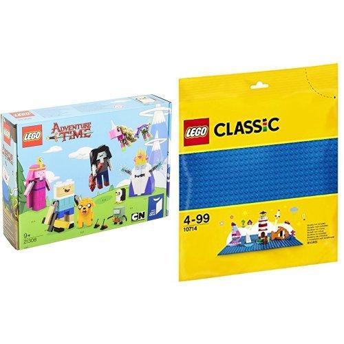 レゴ(LEGO)アイデア アドベンチャー・タイム 21308 & クラシック 基礎板(ブルー) 10714