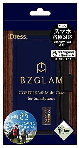 サンクレスト BZGLAM 多機種対応 手帳型 マルチカバー Mサイズ CORDURA FABRIC ネイビー SMC-BZ08