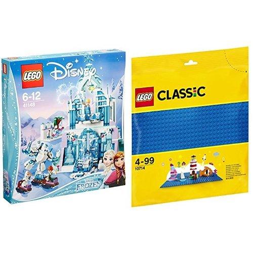 レゴ(LEGO) ディズニープリンセス アナと雪の女王 アイスキャッスル・ファンタジー 41148 & クラシック 基礎板(ブルー) 10714