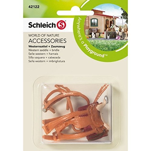 Schleich North America Western Saddle + Bridle Toy Figure [並行輸入品]