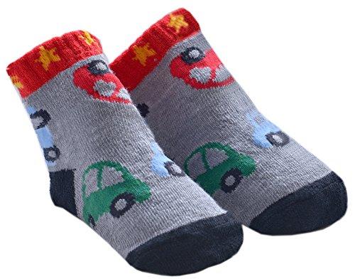 DinDonオリジナル ベビー靴下 ベベカモフラージュ 0-12ヶ月 カーキー #5506
