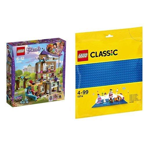 レゴ(LEGO) フレンズ フレンズのさくせんハウス 41340 & クラシック 基礎板(ブルー) 10714