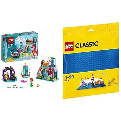 レゴ (LEGO) ディズニー アリエル 海の魔女アースラのおまじない 41145 & クラシック 基礎板(ブルー) 10714