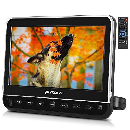 PUMPKIN ヘッドレストモニター 10.1インチ HDMI スマホ同期可 dvdプレーヤー 車載 CPRM リージョンフリー レジューム機能 リモコン ACアダプター付 USB/SD/AV-IN/AV-OUT 18ヶ月保障