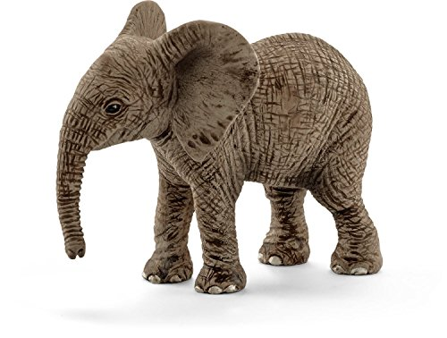 Schleich North America African Elephant Calf Toy Figure [並行輸入品]