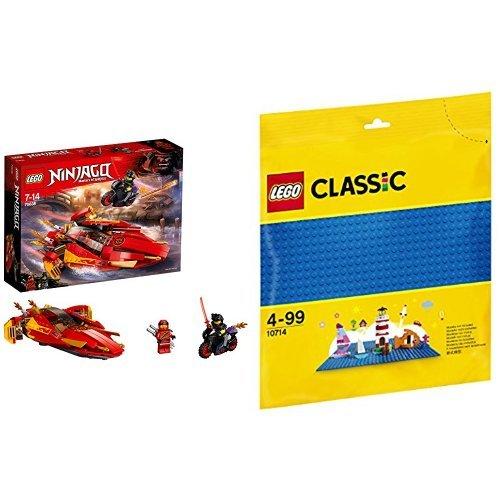 レゴ(LEGO) ニンジャゴー カタナ フレイムボートV11 70638 & クラシック 基礎板(ブルー) 10714