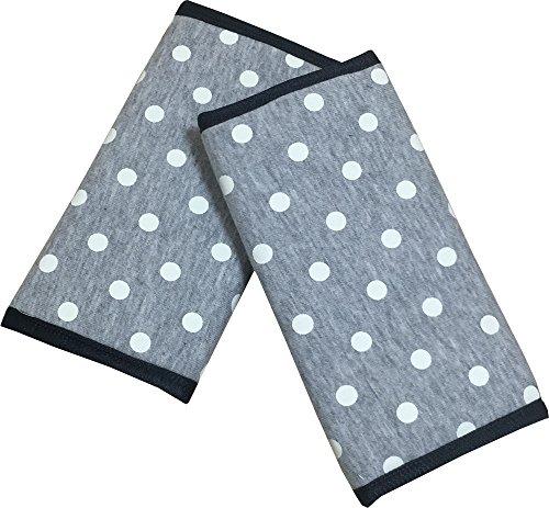 イマージ ベルトカバー 抱っこひも用よだれカバー グレー ドット 綿100% お手入れ取り付け簡単