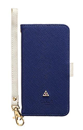サンクレスト Girlsi iPhoneX 5.8インチ対応 手帳型 ダイアリーカバー バイカラー ジオメトリーネイビー iP8-GI03