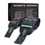 TRUMNO 磁気 アームバンド diy・工具・ガーデン 磁石リストバンド マグネットテープ 収納 ハンドバンド 作業 2点セット グリーン
