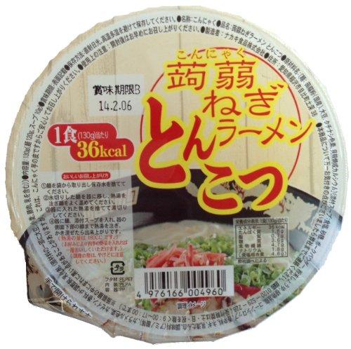 ナカキ食品 こんにゃくねぎラーメン とんこつ130g×12食