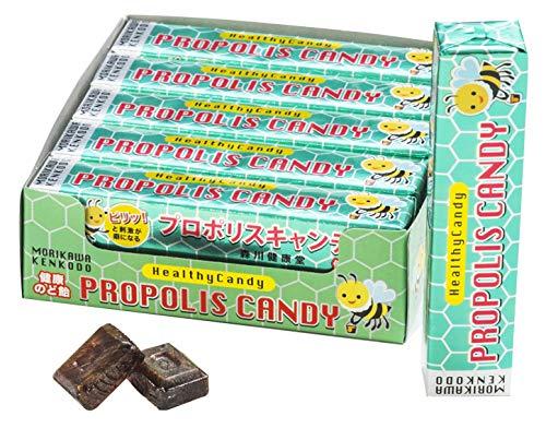 森川健康堂の プロポリス スティックキャンディ (10粒入り/フィルム×10本) 携帯に便利 小型のスティックタイプ