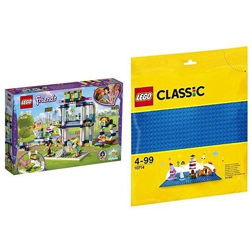 レゴ(LEGO) フレンズ ハートレイク スポーツパーク 41338 & クラシック 基礎板(ブルー) 10714