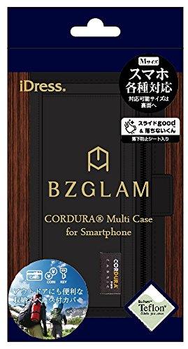 サンクレスト BZGLAM 多機種対応 手帳型 マルチカバー Mサイズ CORDURA FABRIC ブラック SMC-BZ07