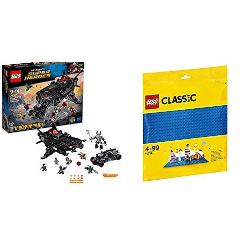 レゴ(LEGO)スーパー・ヒーローズ フライングフォックス:バットモービル・エアーリフト・アタック 76087 & クラシック 基礎板(ブルー) 10714