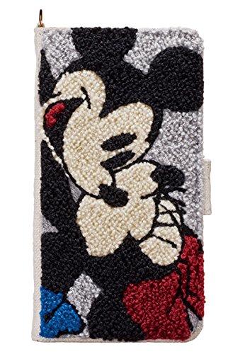 サンクレスト iDress iPhoneX 5.8インチ対応ケース 手帳型 サガラ刺繍カバー ディズニーキャラクター ミッキー&ミニー iP8-DN08