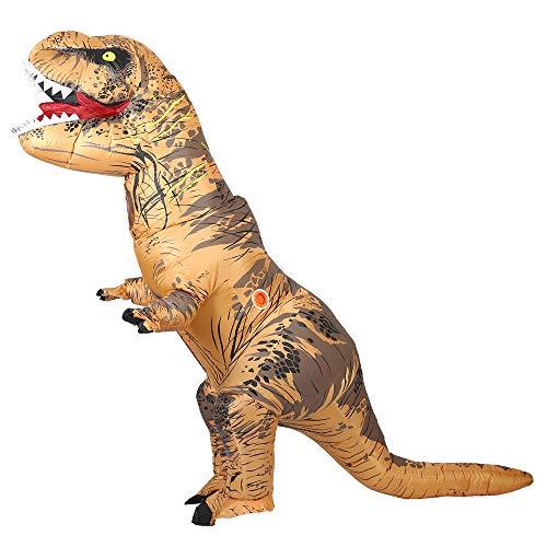 恐竜コスプレ 恐竜着ぐるみ 着ぐるみ大人用 t-rex 動物コスプレ 膨らむコスチューム 空気充填 膨張式 衣装セット キャラクター扮衣装 竜服装 for イベント ハロウィーン パーティー