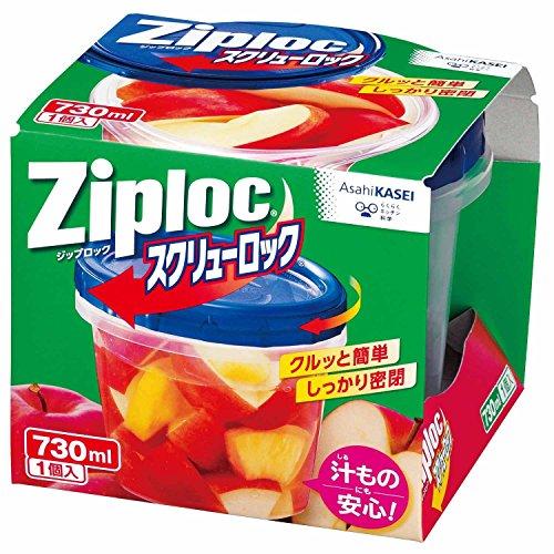 ジップロック/旭化成 ジップロックスクリューロック 730mL /1-9574-03