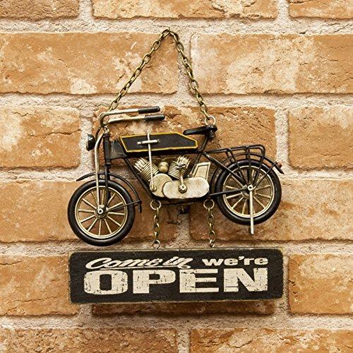 バイク ヴィンテージ プラッケ OPEN & CLOSED ボード プレート 看板 インテリア アメリカン雑貨 アメリカ 雑貨 店舗用 オープン クローズ OPEN CLOSE