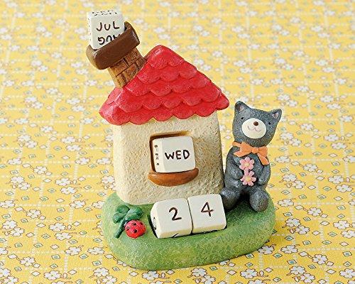 便利な万年カレンダー定番ギフト 丸和貿易 ノーティーエブリデイカレンダー ネコ 400671502