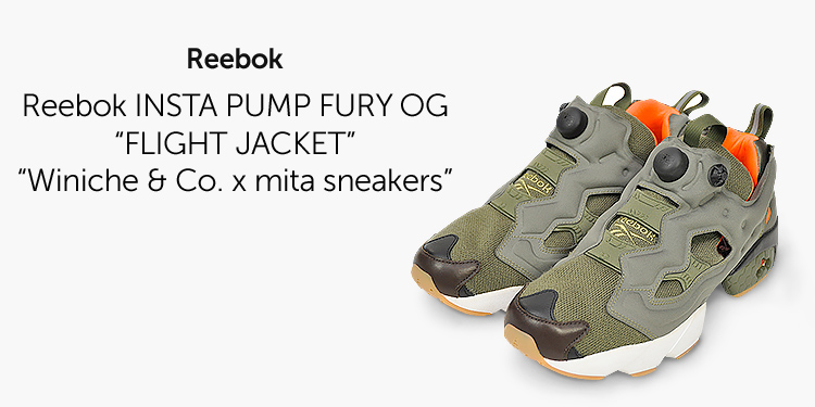 "Reebok INSTA PUMP FURY OG ""FLIGHT JACKET"" ""Winiche & Co. x mita sneakers"""