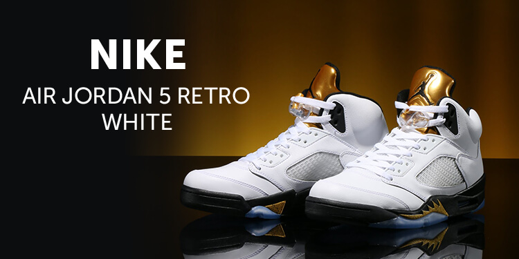 NIKE AIR JORDAN 5 RETRO WHITE