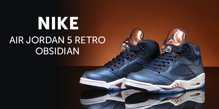 NIKE AIR JORDAN 5 RETRO OBSIDIAN