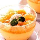 「まるごと果実 白桃」で 白桃プリン