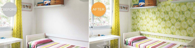 壁紙を張り替えて、もっと心地よい空間へ