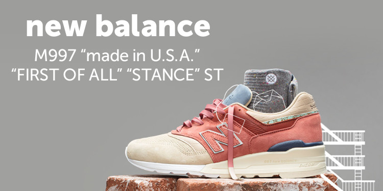 "new balance M997 ""made in U.S.A."" ""FIRST OF ALL"" ""STANCE"" ST"