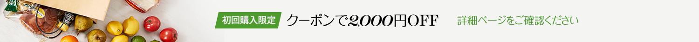初回購入限定 クーポンで2,000円OFF