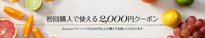 初回注文で使える2000円クーポン