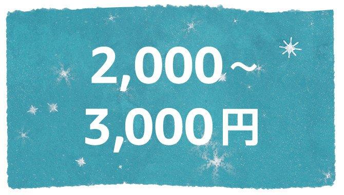 2000~3000円