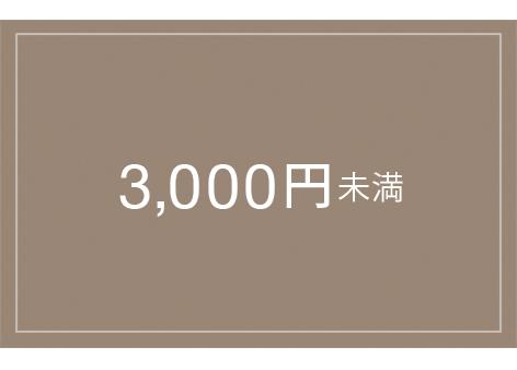 3000円未満