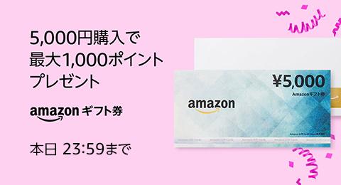 5,000円購入で最大1,000ポイントプレゼント