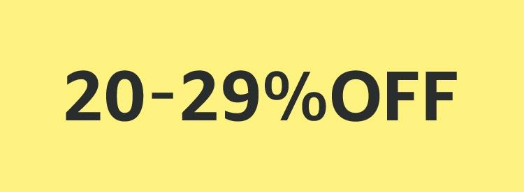 20-29% OFF