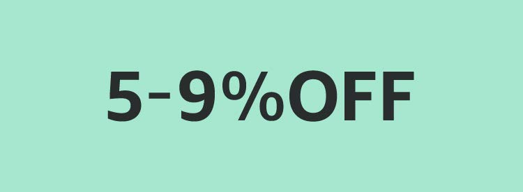5-9% OFF