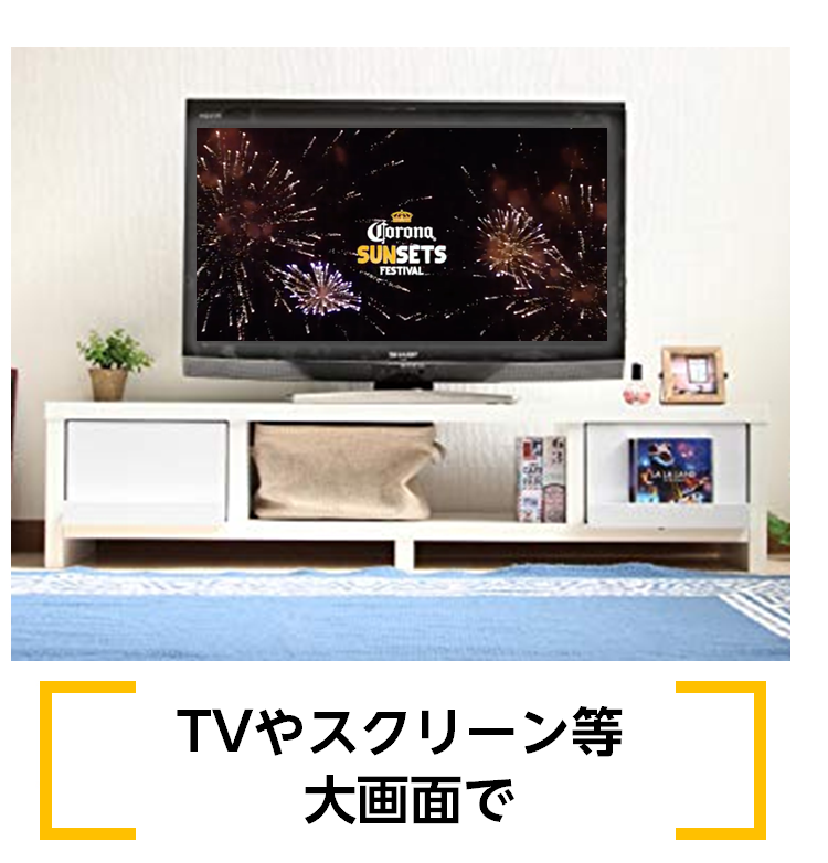 TVやスクリーン等大画面で
