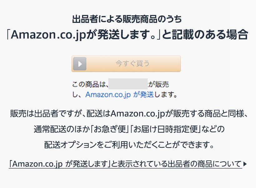 Amazon.co.jp が発送します