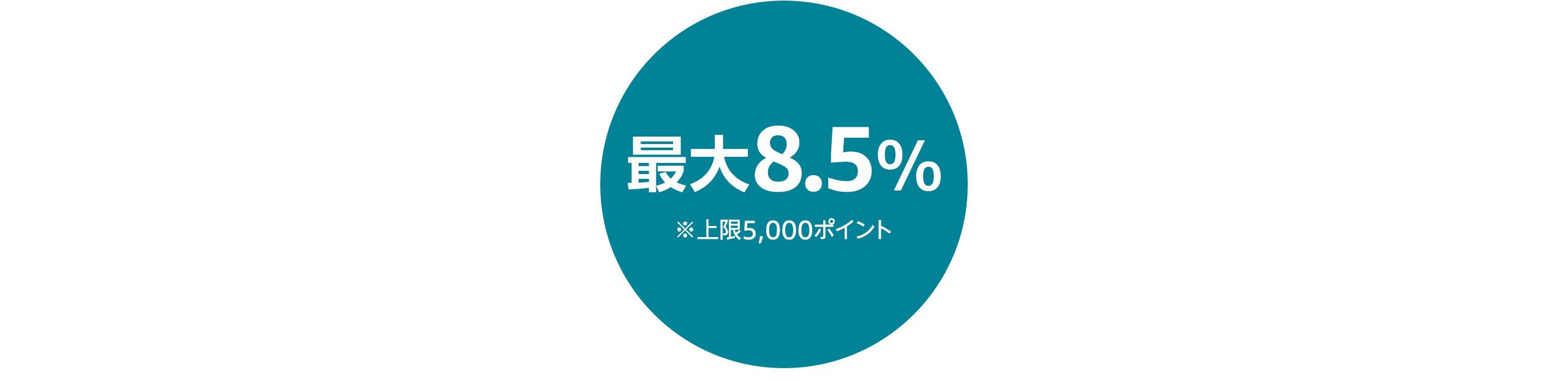 最大8.5%