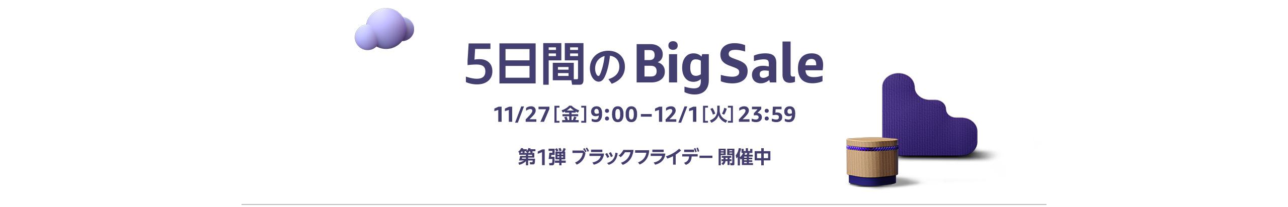 5日間のBig Sale開催中 12/1 [火]23:59まで