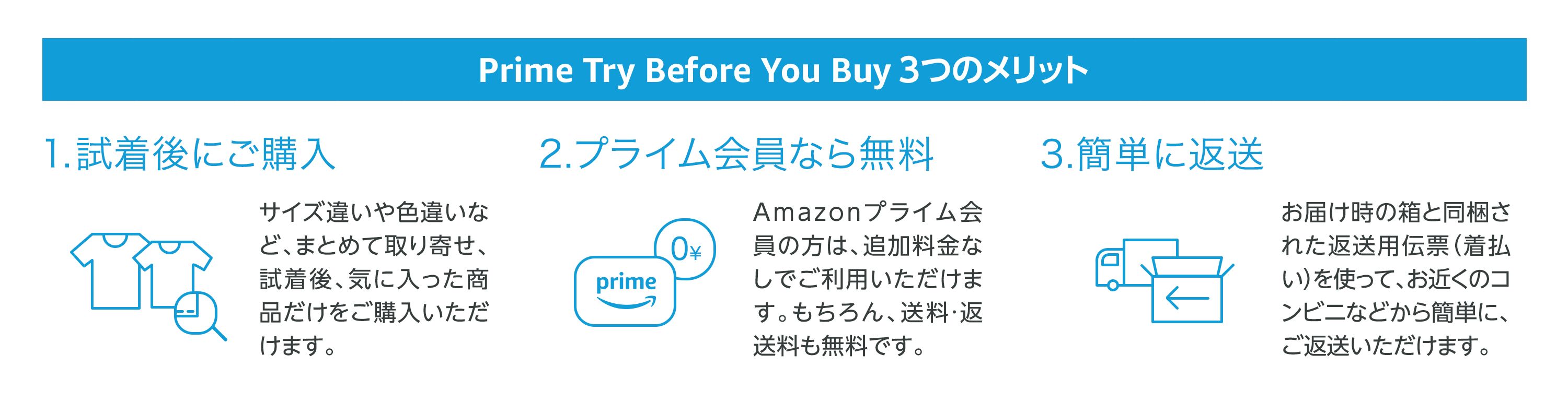 Prime Try Before You Buy 3つのメリット